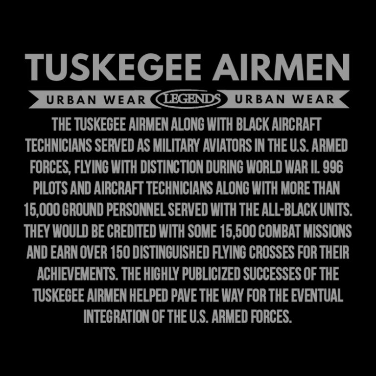 Tuskegee Airmen Story for back of shirts