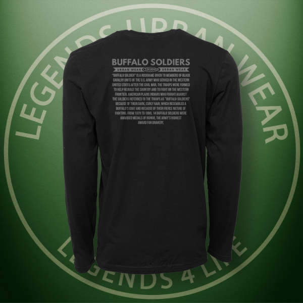 Legends Buffalo Soldiers Long Sleeve Shirt BACK