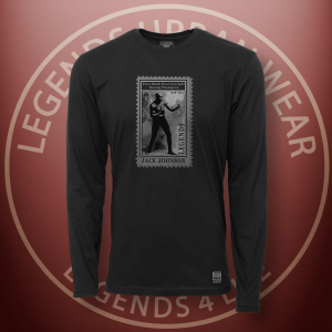 Legends Jack Johnson Black Long Sleeve Shirt FRONT