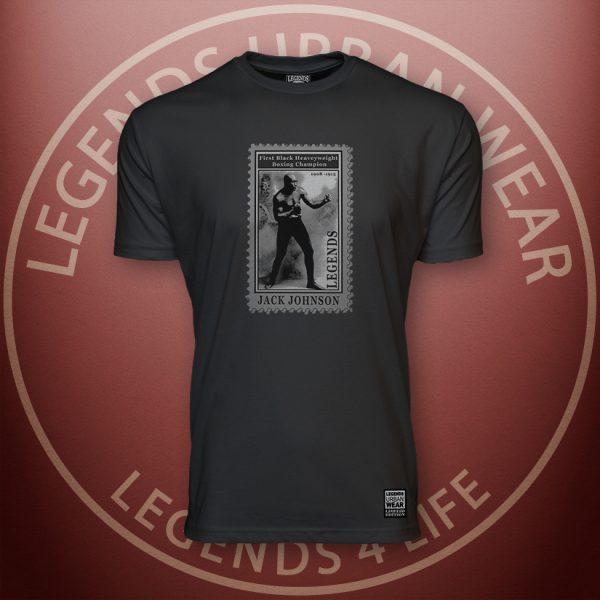 Legends Jack Johnson Men's Black Premium Tee Front