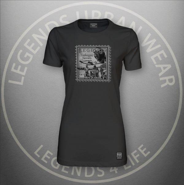 LEGENDS-Tuskegee-Airmen-Womens-Black-Premium-Tee-Front