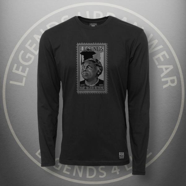 Legends Mary McLeod Bethune Black Long Sleeve Shirt FRONT