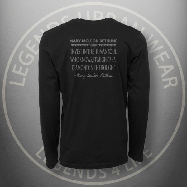 Legends Mary McLeod Bethune Long Sleeve Shirt Back