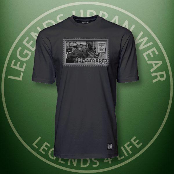 Legends Greensboro Sitin Black Super Tee Front