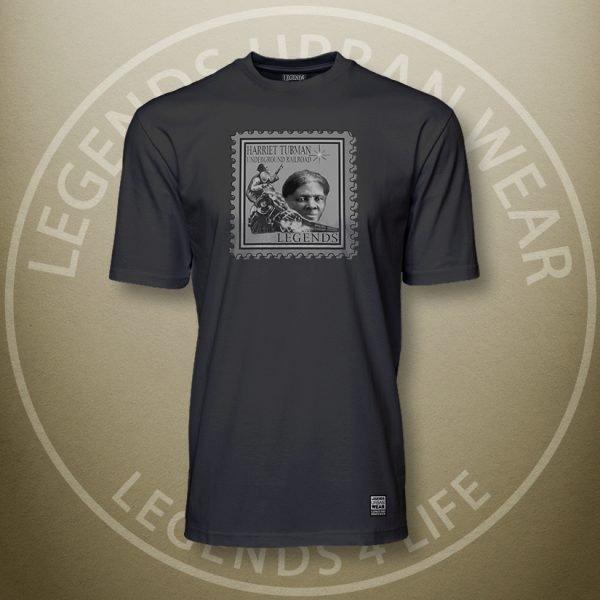 Legends Harriet Tubman Black Super Tee Front