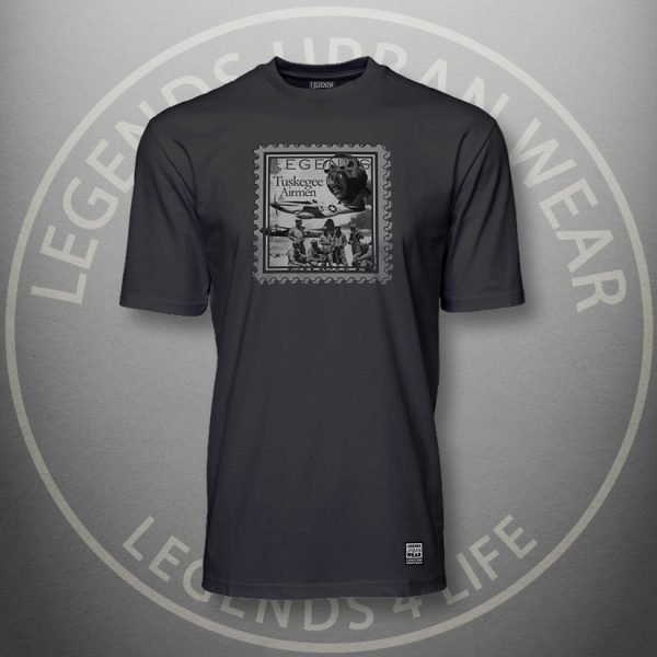 Legends Tuskegee Airmen Black Super Tee Front