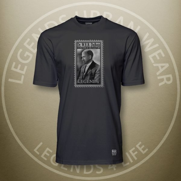 Legends W.E.B. Du Bois Black Super Tee Front